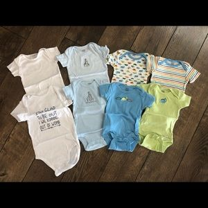 3 Month Baby Boy Short Sleeve Onesies